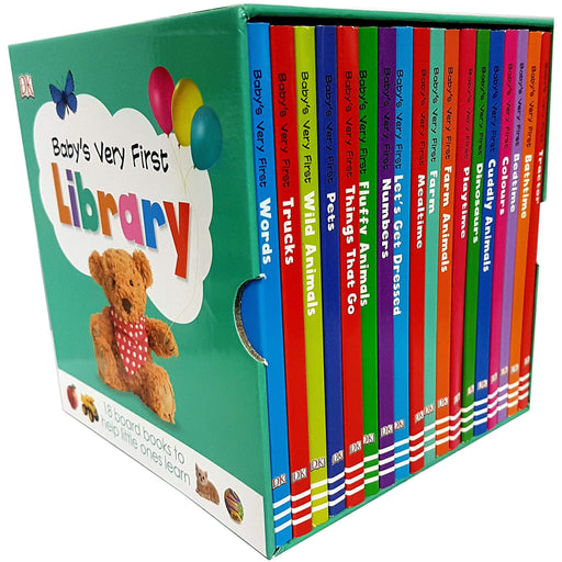 Baby's Very First Library Toddler Early Learning 18 Books Box Set Collection - The Book Bundle