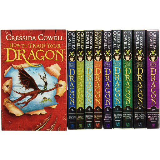 How To Train Your Dragon Collection - 10 Books - The Book Bundle