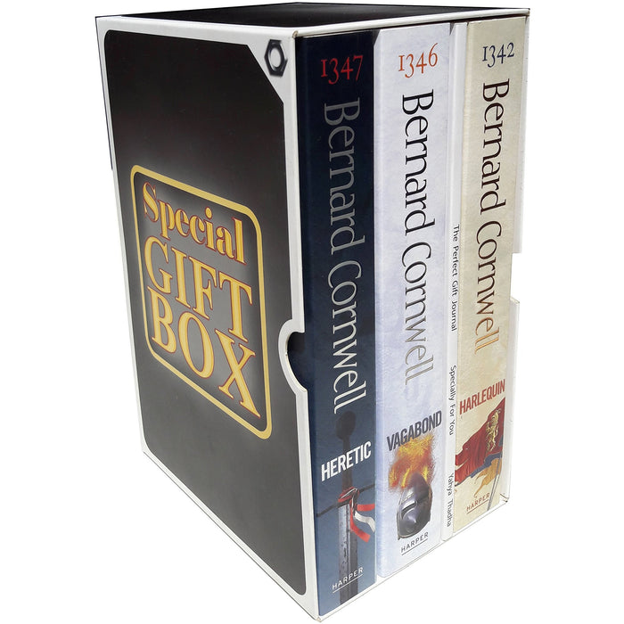 Bernard cornwell grail quest series collection 3 books gift wrapped box set - The Book Bundle