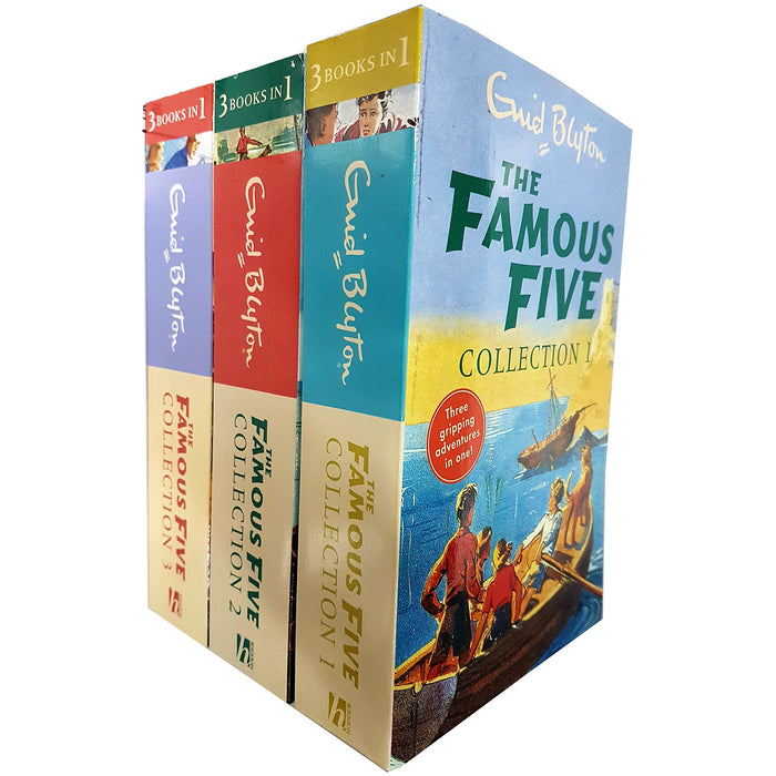 Enid blyton famous five collection 3 books set 3 in 1 pack - The Book Bundle