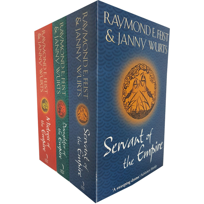 Raymond E. Feist Janny Wurts Empire Riftwar 3 Books Collection Set (Mistress of the Empire, Servant of the Empire, Daughter of the Empire) - The Book Bundle