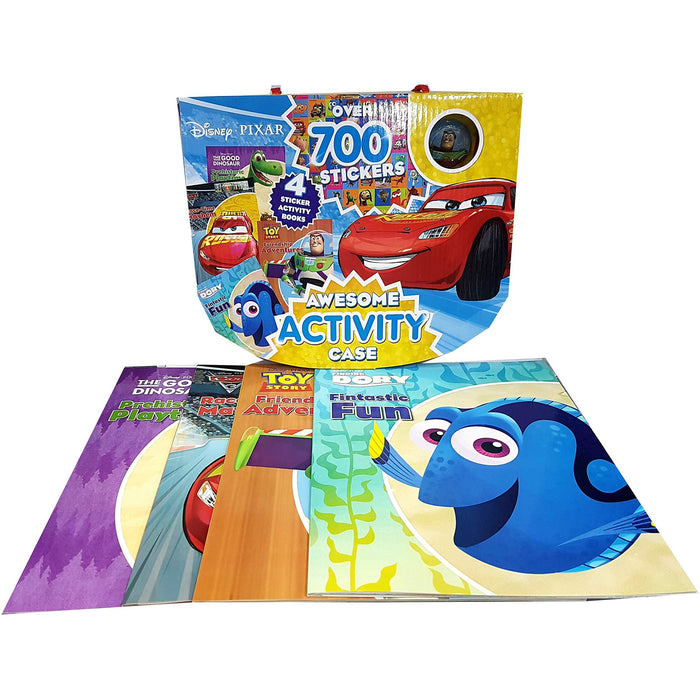 Disney pixar awesome activity case 4 sticker activity books - The Book Bundle