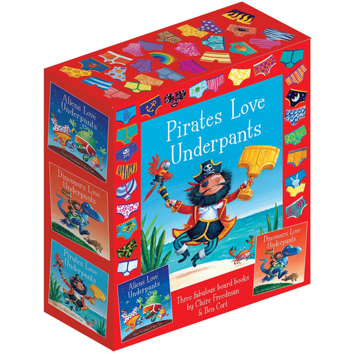 The Underpants Board Book slipcase: includes Aliens Love Underpants; Dinosaurs Love Underpants and Pirates Love Underpants - The Book Bundle