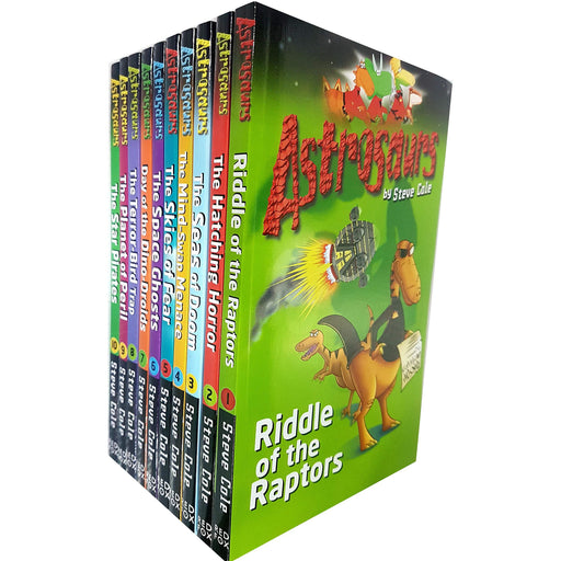 Astrosaurs collection 10 books set by steve cole ( Series 1 ) - The Book Bundle