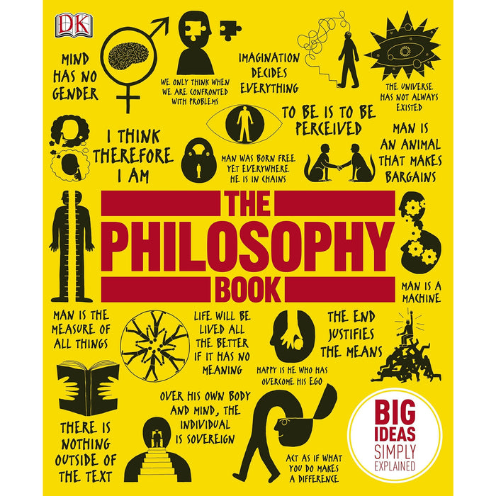 The Philosophy Book, The Psychology Book Big Ideas Simply Explained 2 Books Collection Set - The Book Bundle