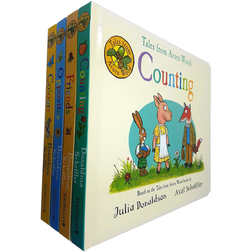 Julia Donaldson Tales From Acorn Wood Series Collection 4 Books Set (Counting, Friends, Opposites, Colours) - The Book Bundle