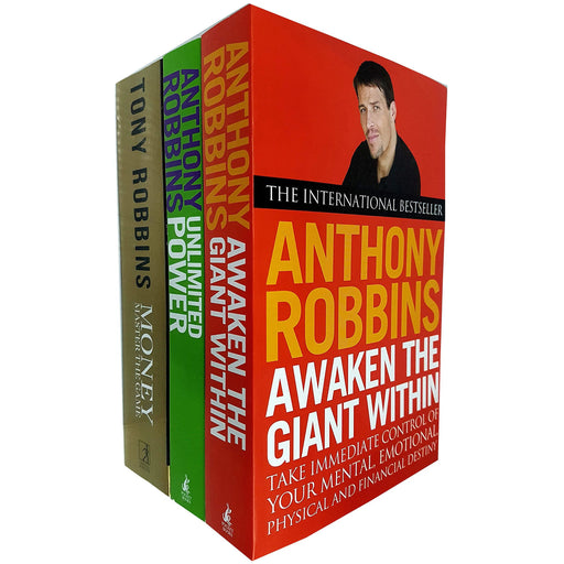 Tony Robins 3 Books Collection Set (Awaken The Giant Within, Unlimited Power, Money Master the Game) - The Book Bundle