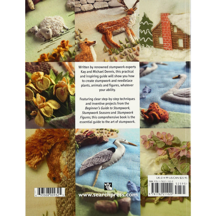 Stumpwork Embroidery: A Practical Guide to Creating Plants, Animals & Figures: Techniques, projects and pure inspiration - The Book Bundle