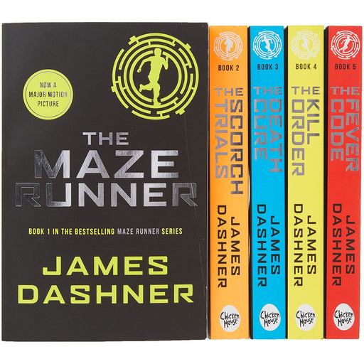Maze Runner Series James Dashner 5 Books Collection Set Pack - The Book Bundle