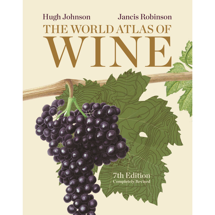 Hugh Johnson on Wine and The World Atlas of Wine 7th Edition 2 Books Bundle Collection with Gift Journal - The Book Bundle