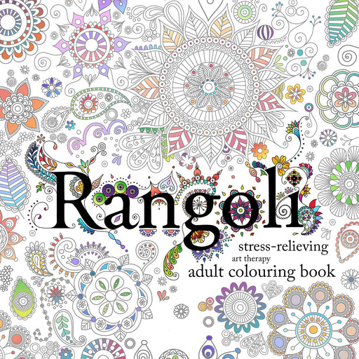 Rangoli: Stress-Relieving Art Therapy Colouring Book - The Book Bundle