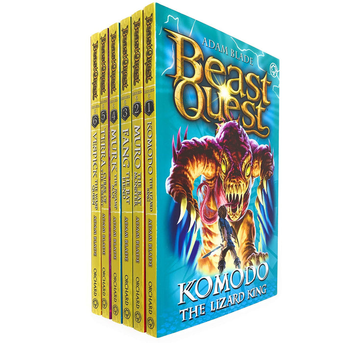 Beast Quest Series 6 The World of Chaos 6 Books Collection Box Set (Books 31-36) by Adam Blade - The Book Bundle