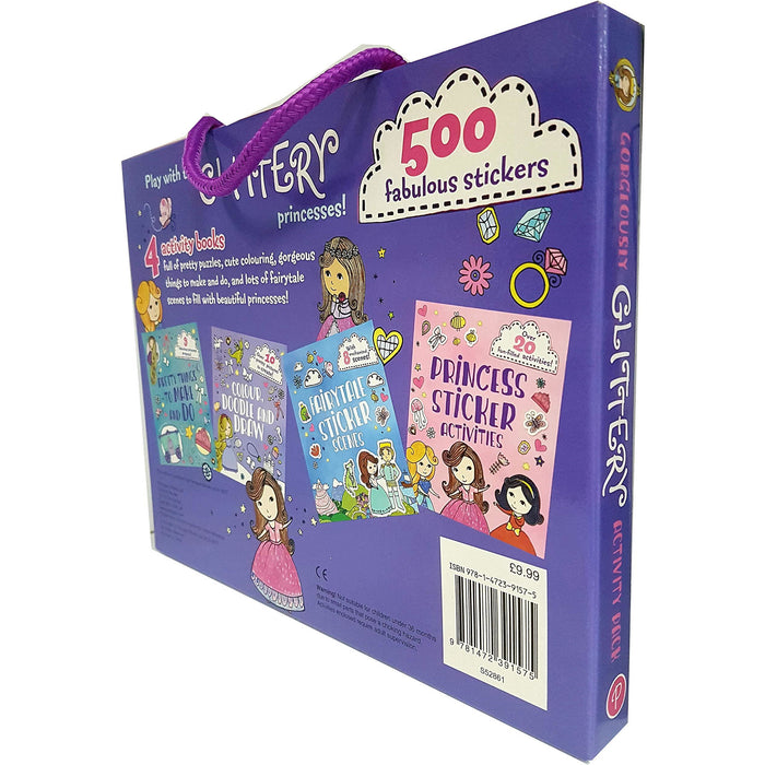 Gorgeously glittery activity pack 500 fabulous stickers with 4 books - The Book Bundle
