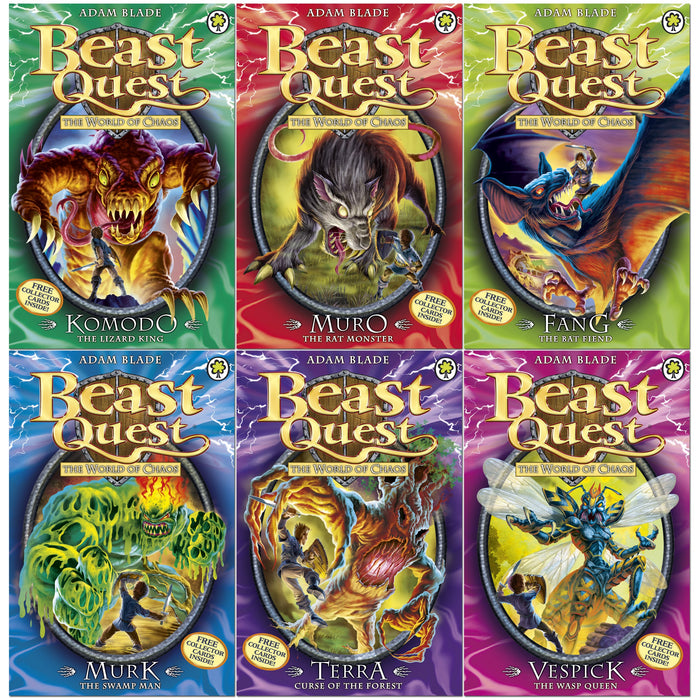 Beast Quest Series 6 Set: The World of Chaos - The Book Bundle