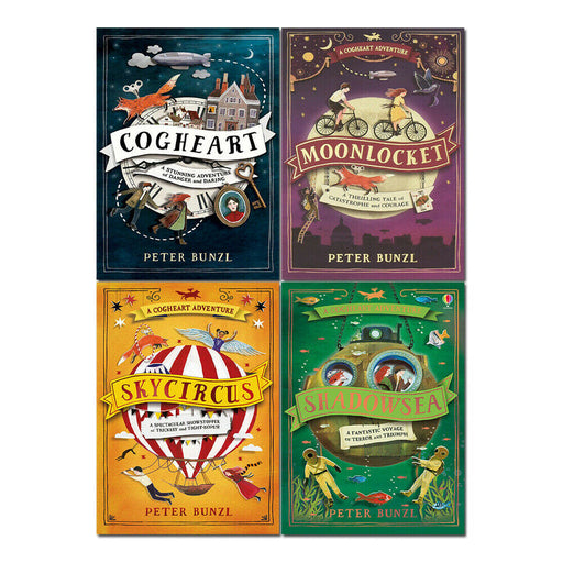 A Cogheart Adventure Series 4 Books Set by Peter Bunzl Shadowsea, Skycircus - The Book Bundle