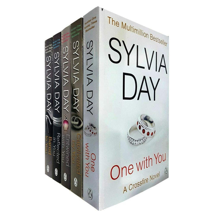 A Crossfire Novel 5 Books Collection Set By Sylvia Day (One With You, Captivated By You, Entwined With You, Reflected In You, Bared To You) Paperback - The Book Bundle