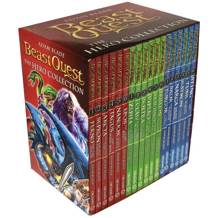 Beast Quest The Hero Collection 18 Books Collection Box Set (Series 1 -3) by Adam Blade - The Book Bundle