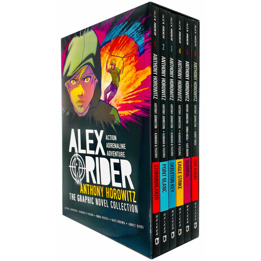 Alex Rider The Graphic Novel Collection 6 Books Box Set by Anthony Horowitz - The Book Bundle