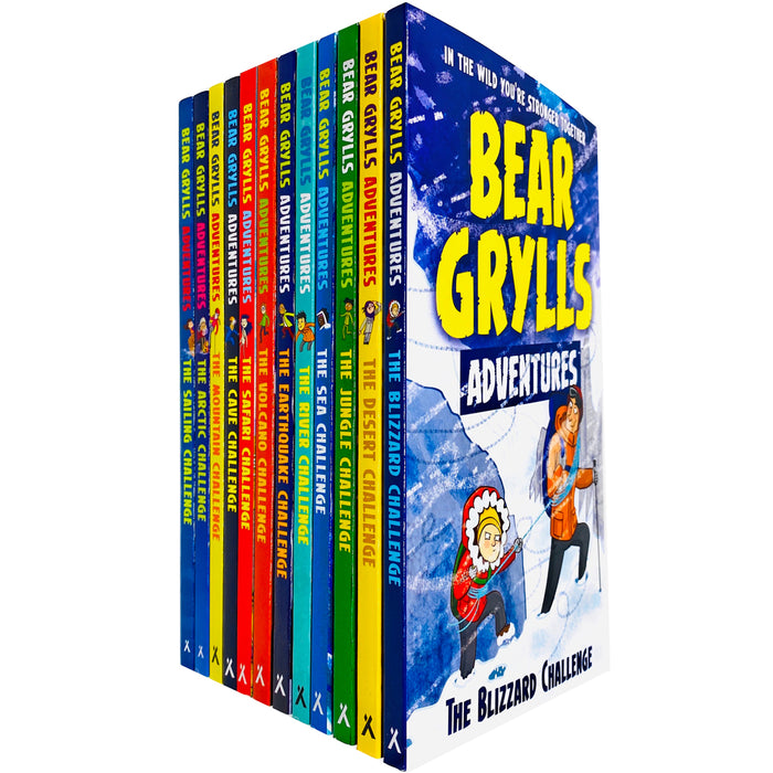 Bear Grylls The Complete Adventures Collection 12 Books Set (Blizzard, Desert, Jungle, Sea, River) - The Book Bundle