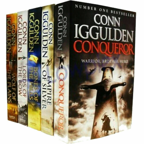 Conn Iggulden Series 5 Books Collection Set Wolf of the Plains,Lords of the Bow - The Book Bundle