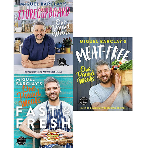 Miguel Barclay 3 Books Collection Set (FAST & FRESH,Meat-Free,Storecupboard) - The Book Bundle