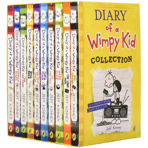Diary of a Wimpy Kid Box Set Collection (10 Books) (Diary of a Wimpy Kid) Paperback - The Book Bundle