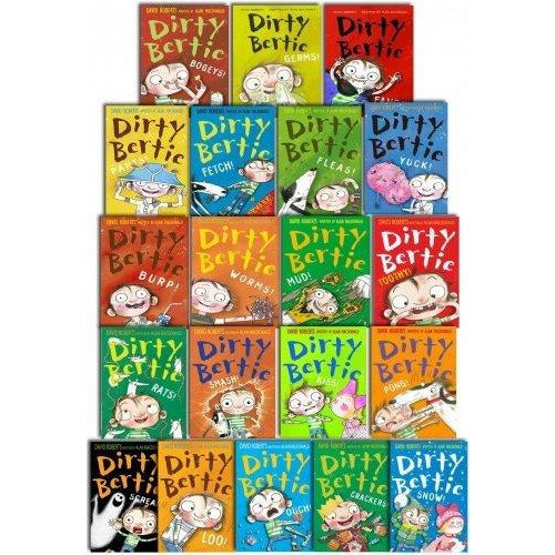 Dirty Bertie Series 1 and 2 Collection By David Roberts 20 Books Set Pack Paperback - The Book Bundle