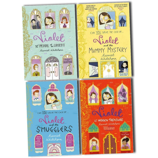 Harriet Whitehorn Violet 4 Books Collection Pack Set (Violet and the Smugglers, Violet and the Mummy Mystery) Paperback - The Book Bundle