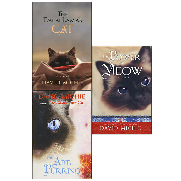 David Michie 3 Books Collection Set Dalai Lama's Cat Series Paperback NEW - The Book Bundle