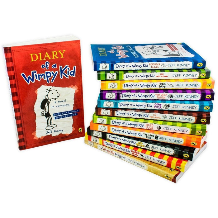 Diary of a Wimpy Kid Box of Books: 12 Book Collection Set - Paperback - Jeff Kinney - The Book Bundle