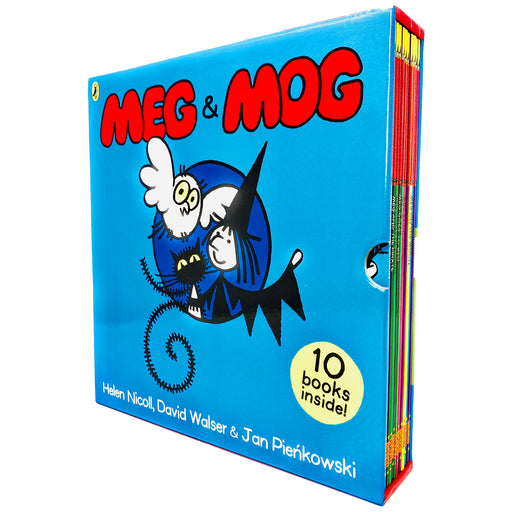 Meg & Mog 10 Picture Books Collection Box Set (Mog's Missing, Meg at Sea, Mog at The Zoo, Meg's Veg, Meg And The Dragon, Meg Comes to School & MORE! - The Book Bundle