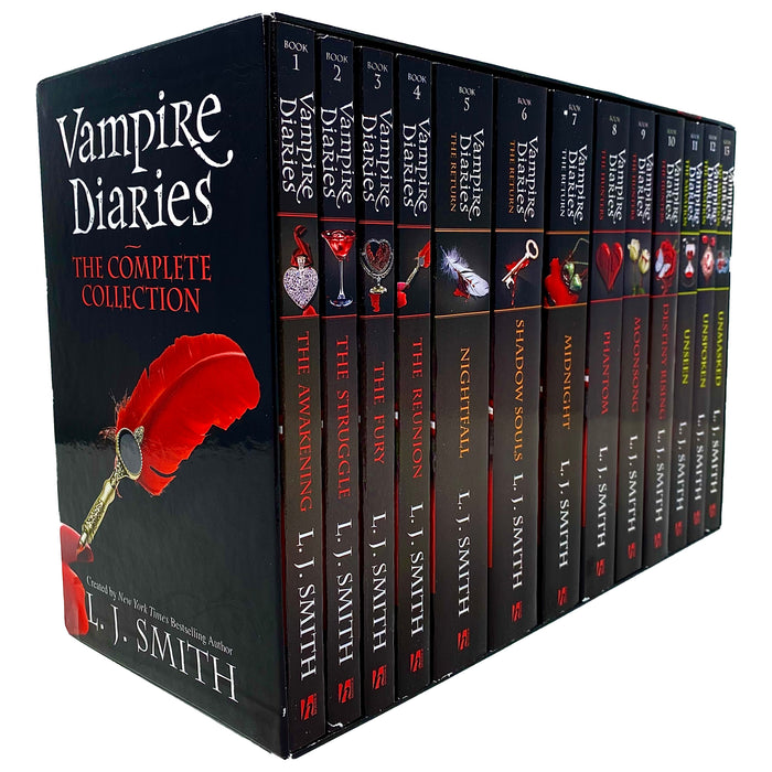 Vampire Diaries The Complete Collection Books 1 - 13 Box Set by L. J. Smith - The Book Bundle