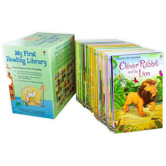 Usborne My Very First Reading Library 50 Books Set Collection Pack Early Level 1 and 2 - The Book Bundle