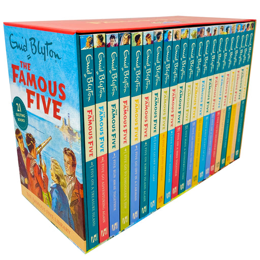 The Famous Five Library Books 1 - 21 Collection Box Set by Enid Blyton - The Book Bundle