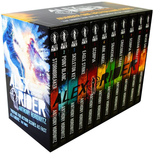 Alex Rider The Complete Missions Books 1 - 11 Box Set Collection by Anthony Horowitz - The Book Bundle