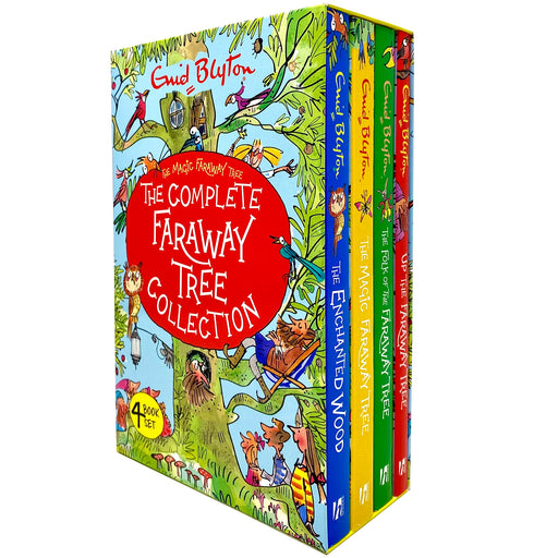The Complete Magic Faraway Tree Collection 4 Books Box Set by Enid Blyton(Up The Faraway Tree,Folk of the Faraway Tree,Magic Faraway Tree & Enchanted) - The Book Bundle