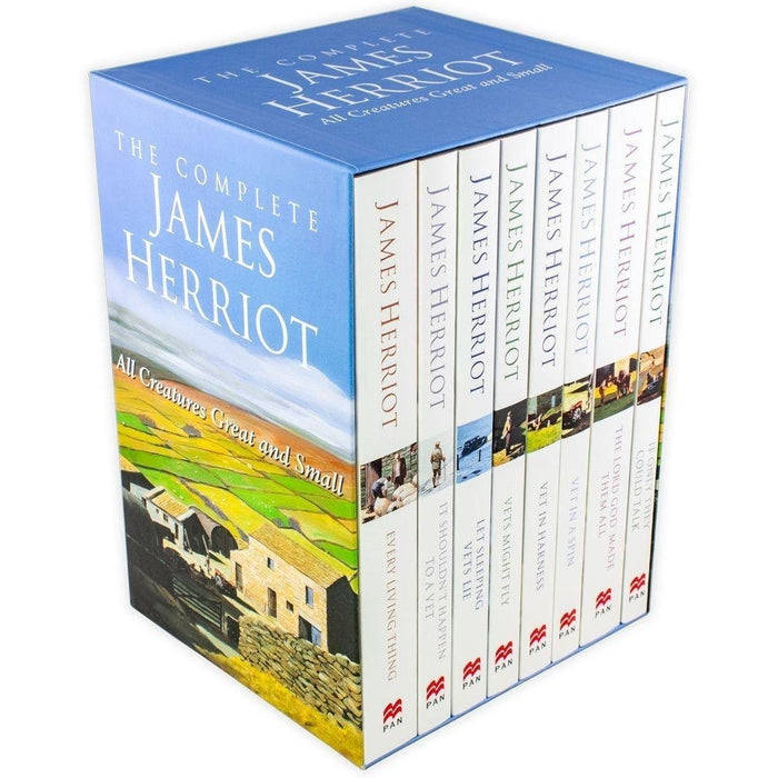 The Complete James Herriot All Creatures Great and Small 8 Books Collection Set - The Book Bundle