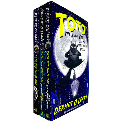 Toto the Ninja Cat Series Books 1 - 3 Collection Set by Dermot O'Leary (Great Snake Escape, Incredible Cheese Heist & Superstar Catastrophe) - The Book Bundle