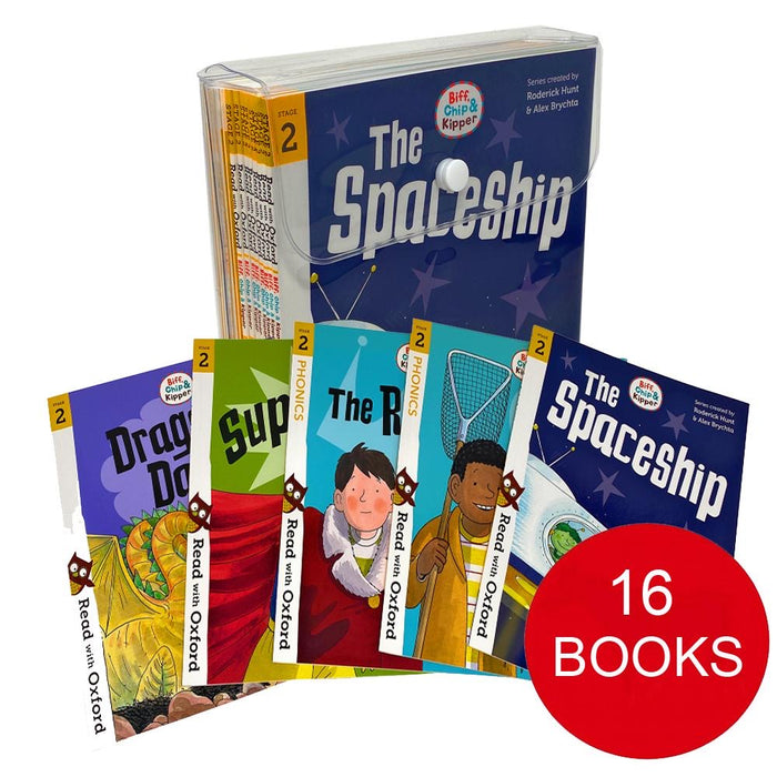 Biff, Chip and Kipper Stage 2 Read with Oxford for Age 4+ School Early Learners -  16 Books Collection Set