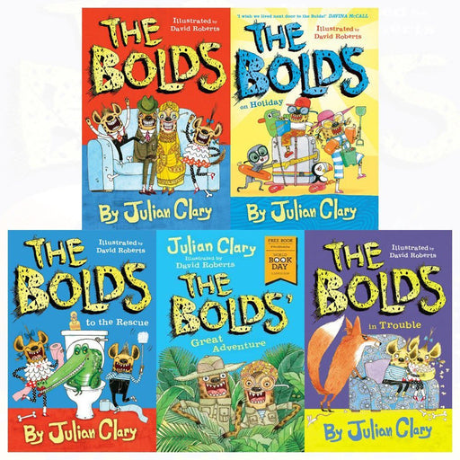 Julian Clary Bolds Series 5 Books Collection Set (The Bolds,The Bolds' Great Adventure: World Book Day) Paperback - The Book Bundle