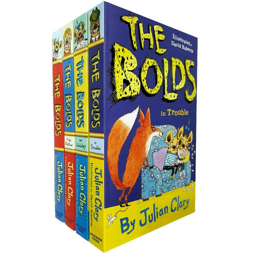 Julian Clary Collection 4 Books Set (The Bolds, The Bolds To The Rescue, The Bolds On Holiday, The Bolds, The Bolds in Trouble) Paperback - The Book Bundle