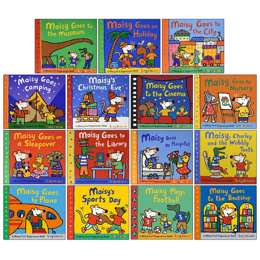 Maisy Mouse First Experience 15 Books Pack Collection Set by Lucy Cousins (Bookshop, Football, Sports Day) - The Book Bundle