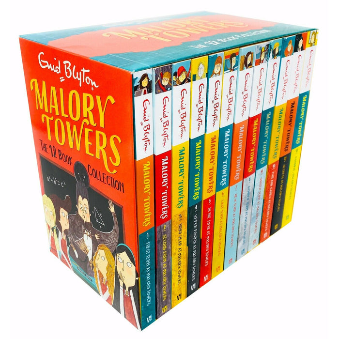 Malory Towers Series by Enid Blyton - The 12 Books Collection Box Set CBBC - The Book Bundle
