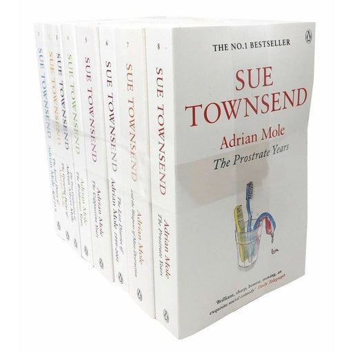 Sue Townsend Classics Collection Series By Adrian Mole 8 Books Set Growing Pain - The Book Bundle
