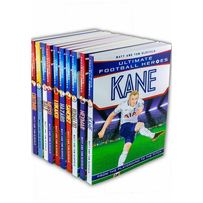 Ultimate Football Heroes collection 10 books set Ronaldo Hazard Tom Oldfield NEW - The Book Bundle