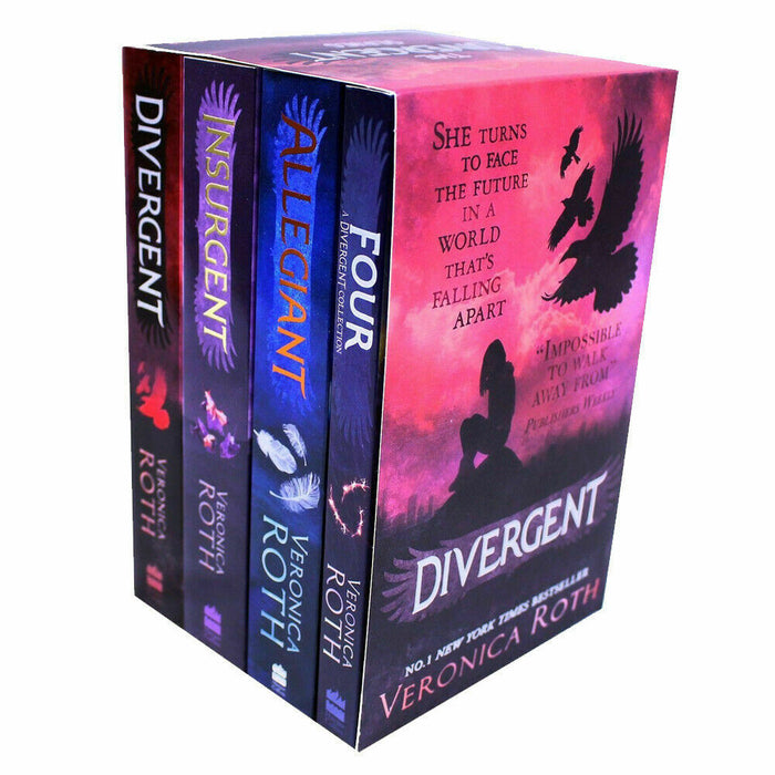 Veronica Roth Divergent Series Collection 4 Box Set Dystopian, Paperback NEW - The Book Bundle