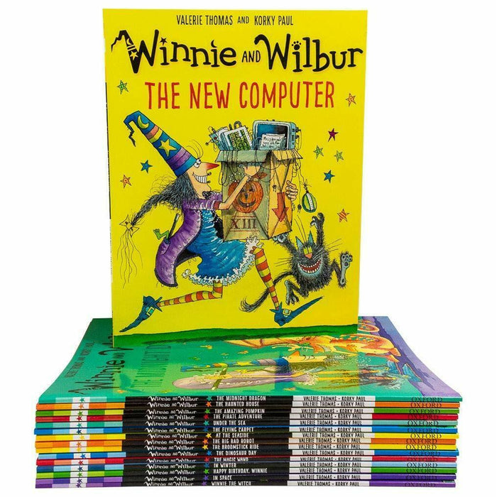 Winnie and Wilbur Series 16 Books Bag Collection Set By Valerie Thomas PB - The Book Bundle