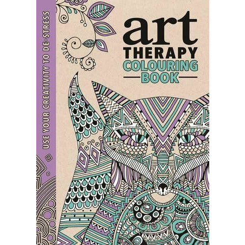 Art Therapy Colouring Book by Richard Merritt Hardcover - The Book Bundle
