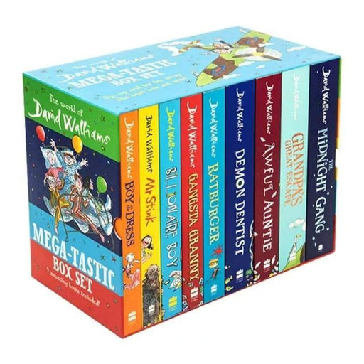 The Terrific Ten 9 Books Box Set Collection by David Walliams - Paperback - The Book Bundle