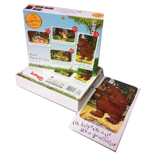 Julia Donaldson The Gruffalo 4 in 1 Jigsaw Puzzles Pack - The Book Bundle